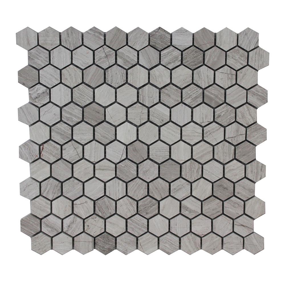 Driftwood Small Hexagon Silver Lion