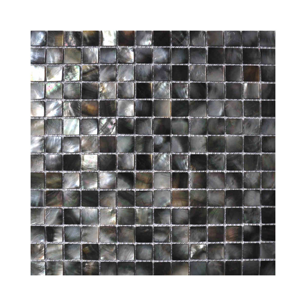 Mother of Pearl Black Square Silver Lion Trading
