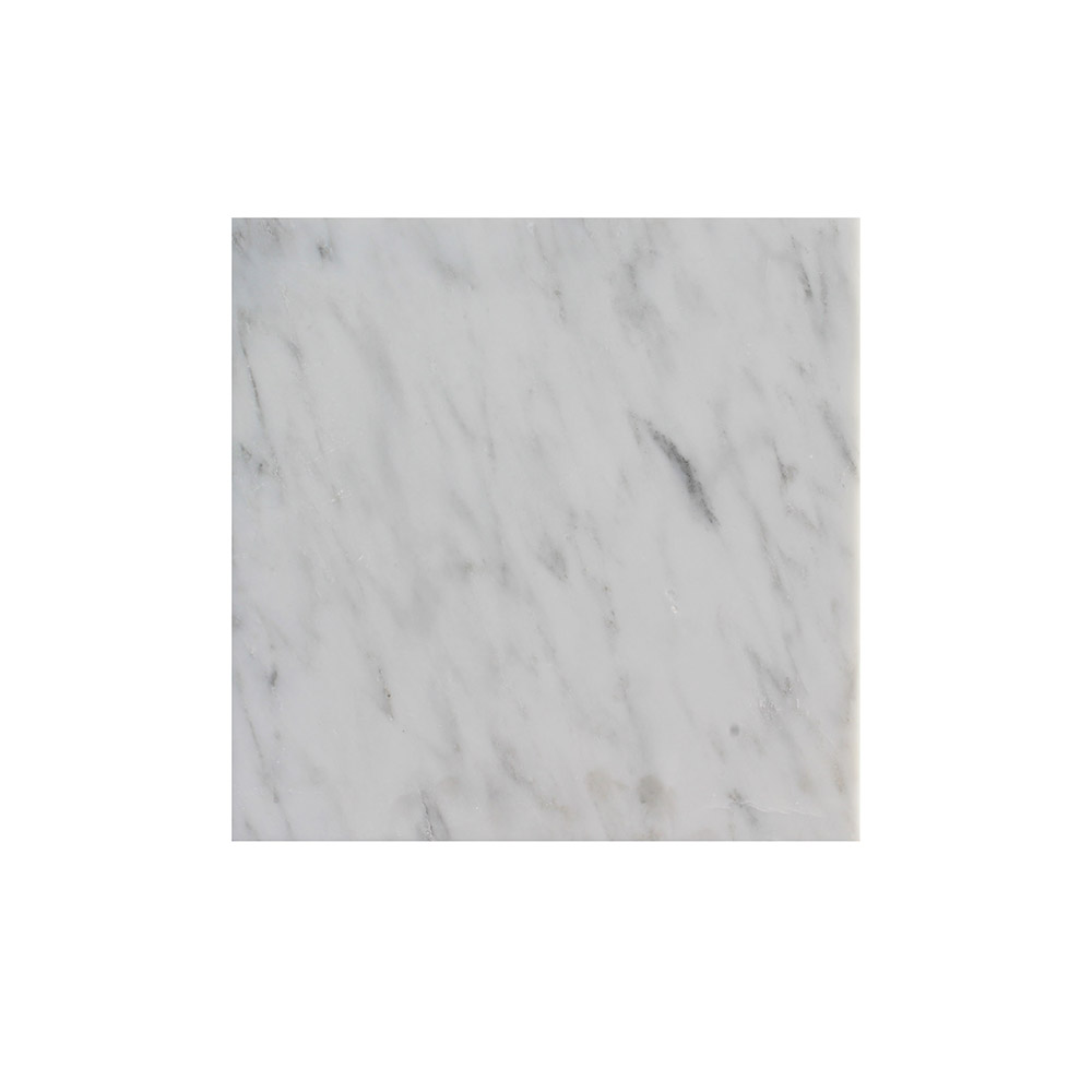 Hampton 30.5cm x 30.5cm, white marble,