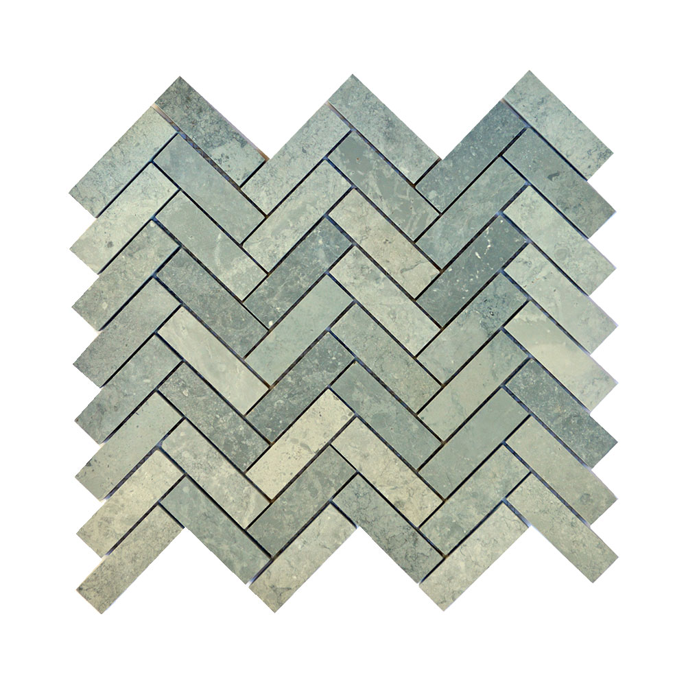 Cement Herringbone Silver Lion