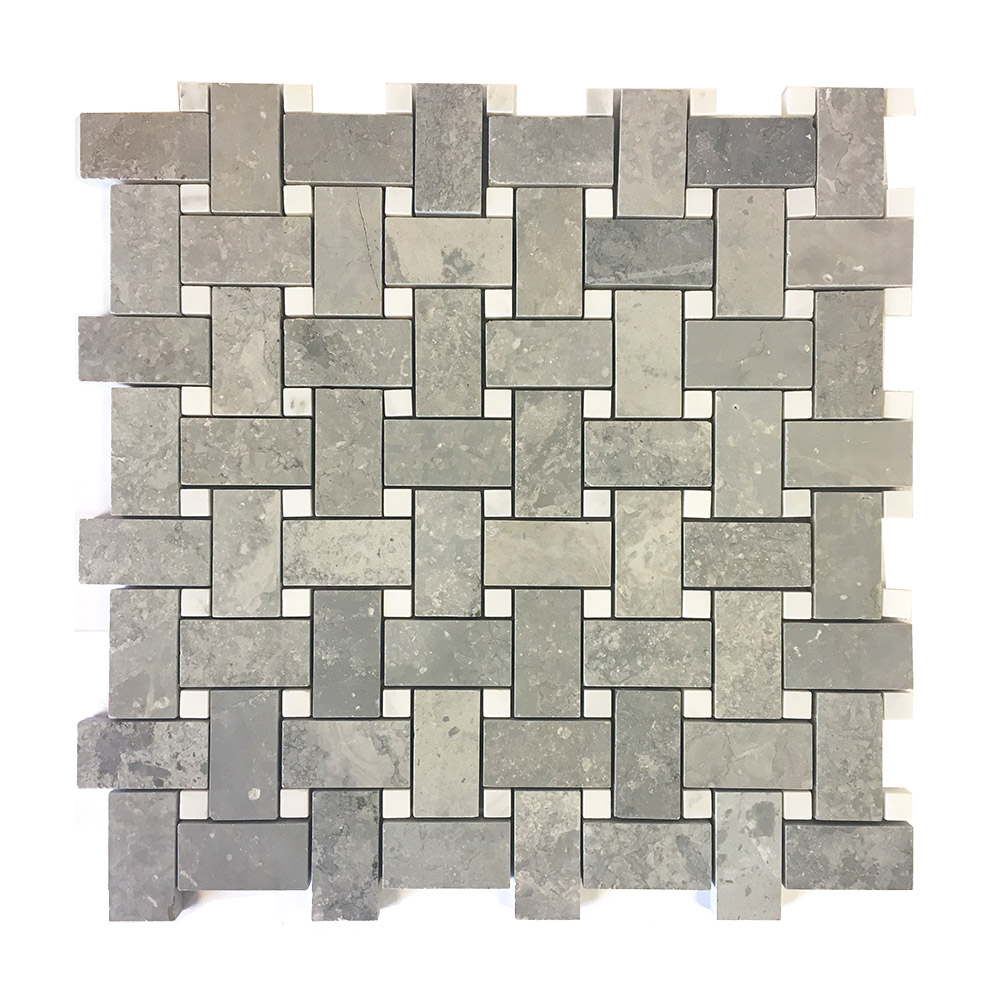 Cement Basketweave Silver Lion